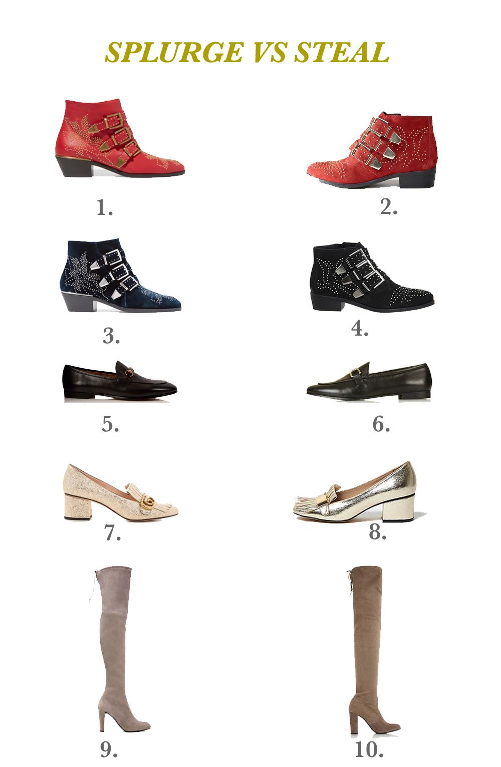 f62960af1aa0 Designer shoe dupe, Chloe dupe, Gucci dupe, Stuart Weizman dupe